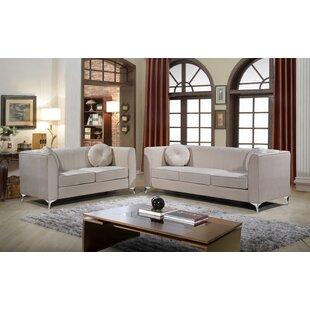 Mercer41 Aadvik 2 Piece Living Room Set (Set of 2)