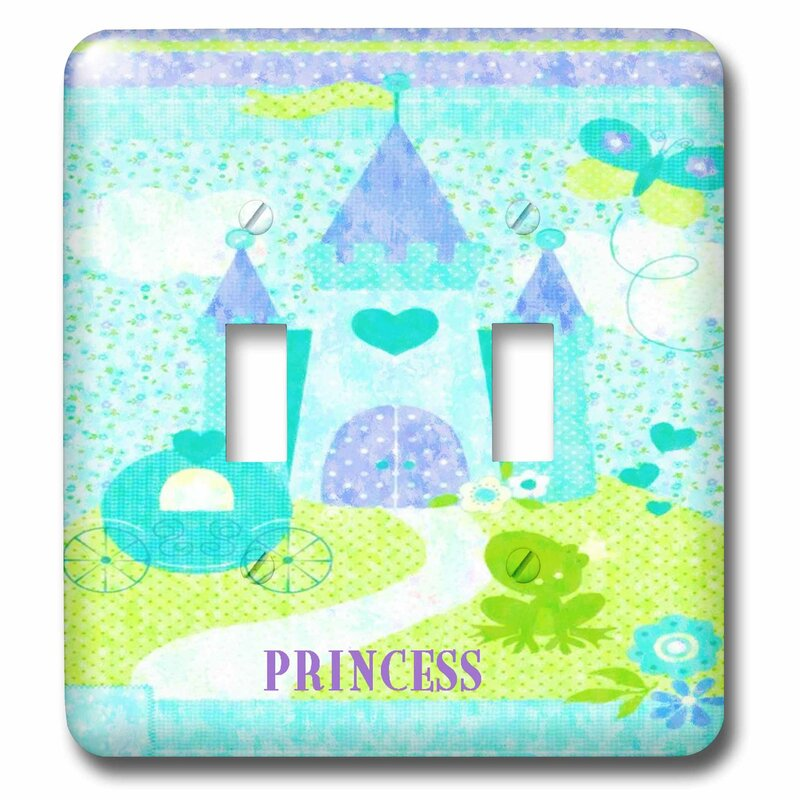 3drose Princess Castle In The Clouds 2 Gang Toggle Light Switch Wall Plate Wayfair