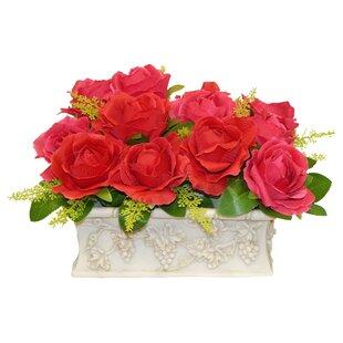 Rose Centerpiece in Planter