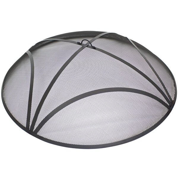 Elementi Outdoor Lunar Bowl Fire Pit Bowl Round Tempered Glass Wind Screen Firepit Spark Screen 30 x 30 Heavy Duty Firepit Accessories
