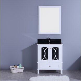 Top Reviews Dule 30 Single Bathroom Vanity Set with Mirror ByMercer41