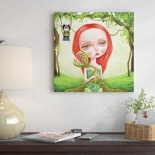 u0027Poison Ivyu0027 Painting Print on Wrapped Canvas & Ink And Ivy Lighting | Wayfair