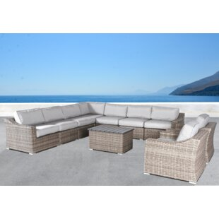 Huddleson 10 Piece Sectional Seating Group with Cushions by Rosecliff Heights