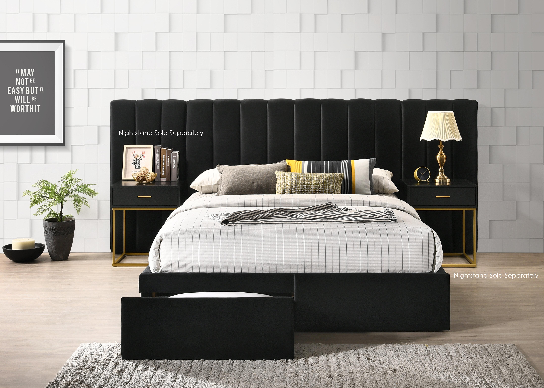 Stone Velvet Standard Configurable Bedroom Set