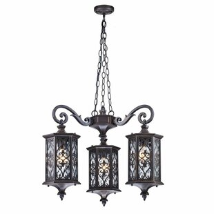 Review Gothic 3 Light Outdoor Hanging Lantern