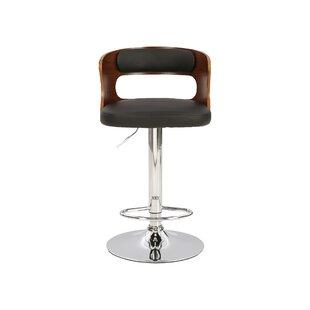 Leighton Height Adjustable Swivel Bar Stool By Hazelwood Home