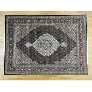 Searching for One-of-a-Kind Fleurette Hand-Knotted 9' x 12'3 Wool/Silk Black/Gray Area Rug By Isabelline