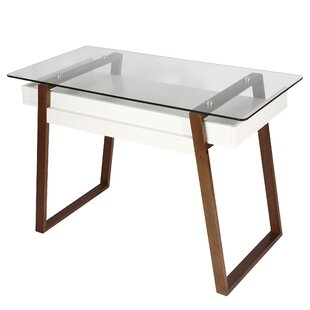 Ivy Bronx Capel Glass Top Desk