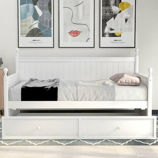Ashima Wood Twin Platform Bed with Trundle