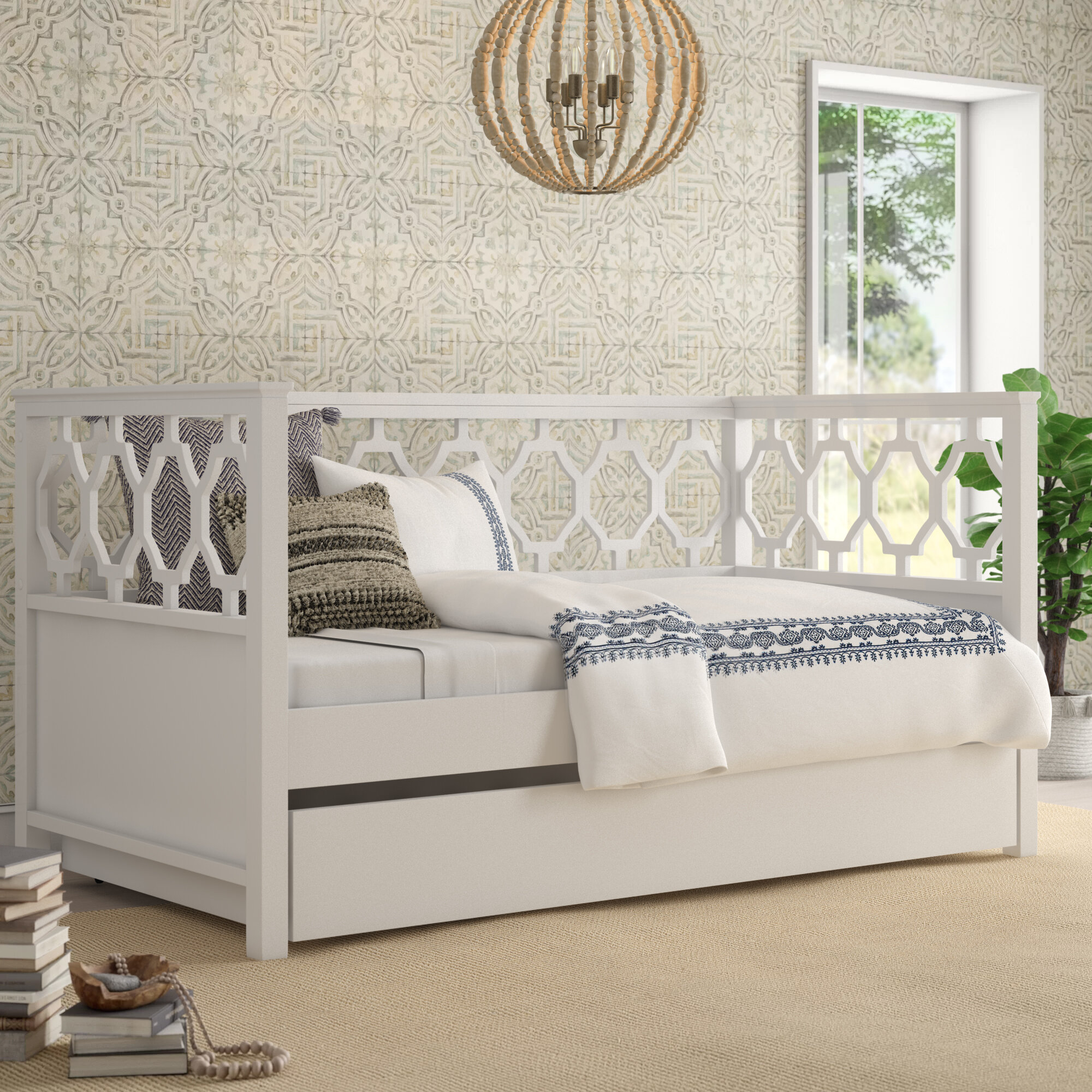 - Mistana Eliora Quaterfoil Twin Daybed With Trundle & Reviews Wayfair