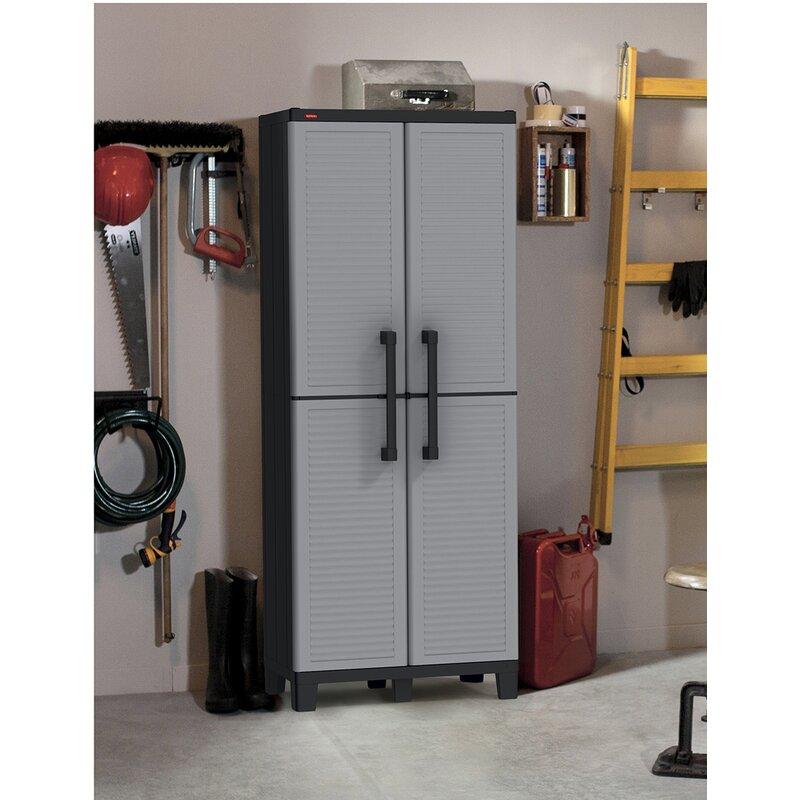 Keter 64 H X 27 W 15 D Tall Utility Storage Cabinet Reviews Wayfair