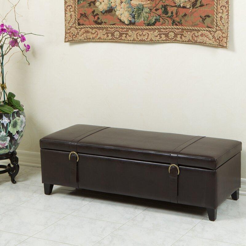 Stanford Leather Storage Ottoman