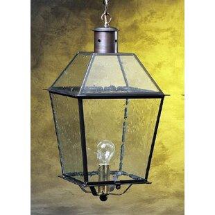 Longshore Tides Kira Glass Top 1-Light Outdoor Hanging Lantern