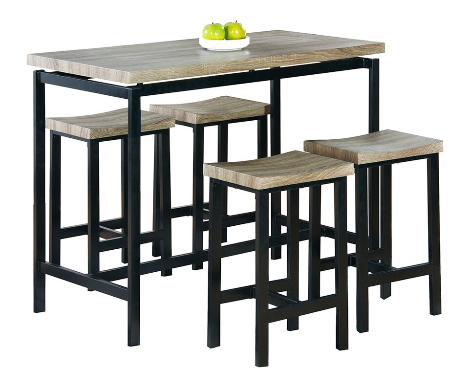 Bourges 5 Piece Pub Table Set Reviews