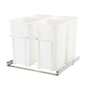 Knape&Vogt Plastic 6.75 Gallon Pull Out/Under Counter Trash Can
