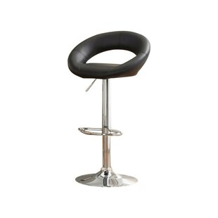 Mayr Adjustable Height Swivel Bar Stool by Orren Ellis