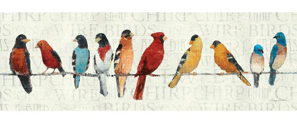 Red Barrel Studio The Usual Suspects Birds On A Wire Wall Art On Wrapped  Canvas U0026 Reviews | Wayfair