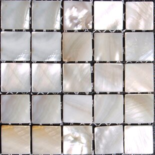 Authentic 0.625 inch  x 0.625 inch  Seashell Mosaic Tile in Natural