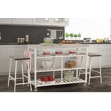 Droitwich Kitchen Island Set with Granite Top by August Grove®