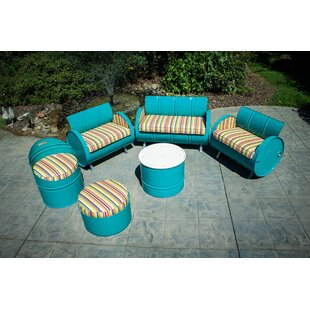 Karolina 6 Piece Sunbrella Sofa Set with Cushions