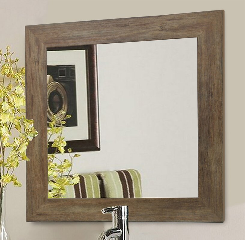 Brown Wall Mirror laurel foundry modern farmhouse rectangle brown barnwood wall