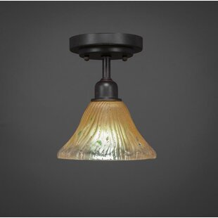 Kash 1-Light Crystal Semi-Flush Mount by Williston Forge