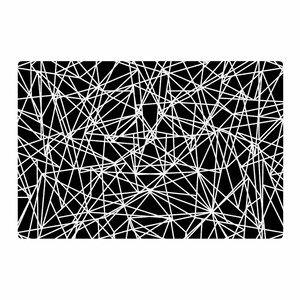 Fimbis Bionic Rays BW Digital Black/White Area Rug