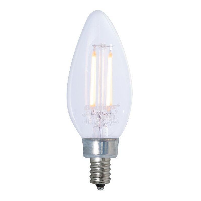 Bulbrite Industries 4 5 Watt 40 Watt Equivalent B11 Led Dimmable Light Bulb E12 Candelabra Base Wayfair