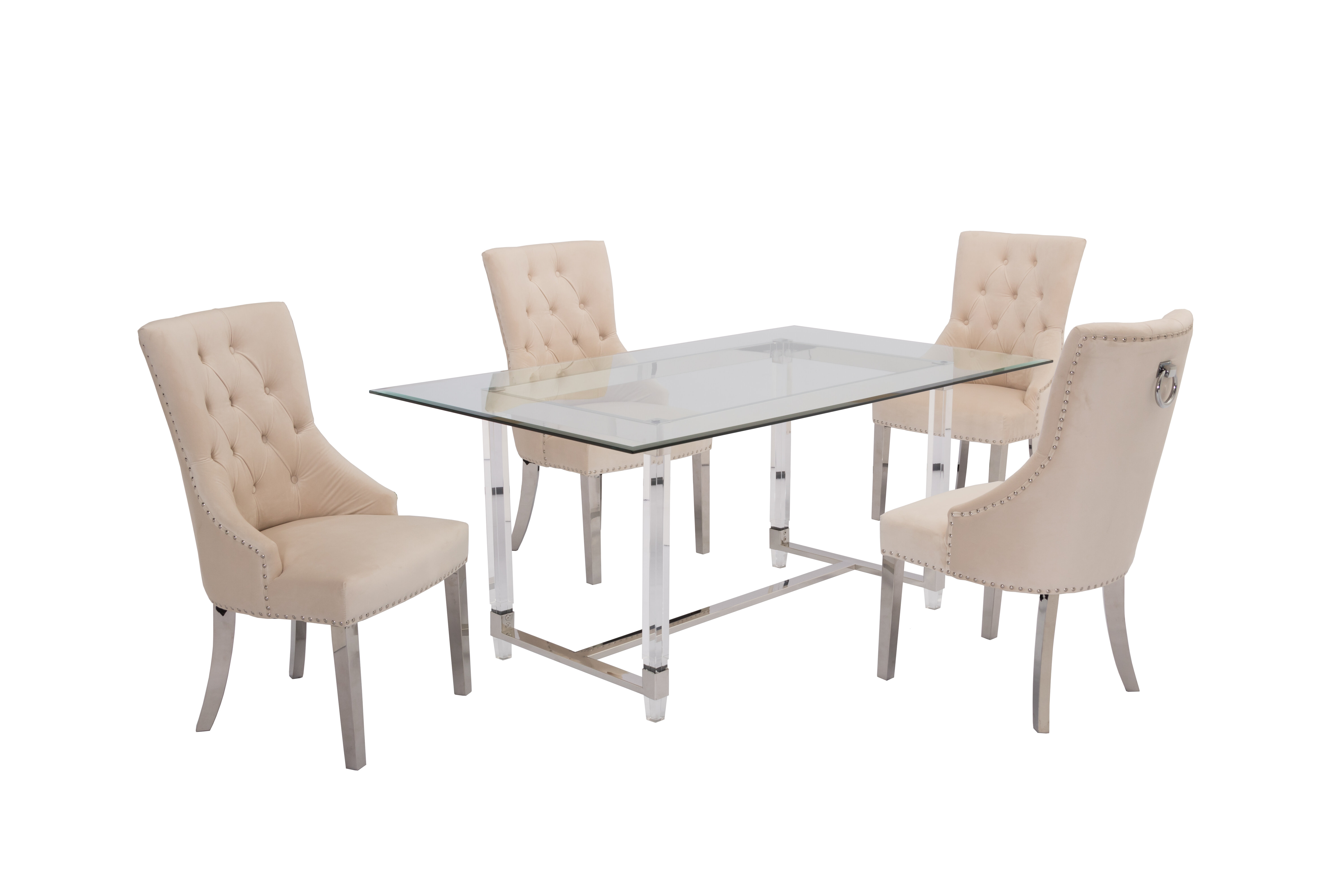 Beige Glam Kitchen Dining Room Sets You Ll Love In 2021 Wayfair