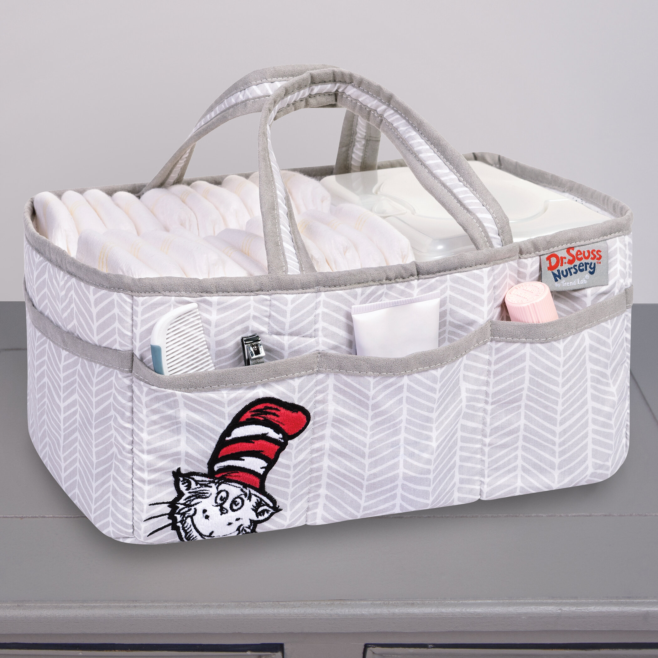 Dr Seuss The Cat in the Hat Fabric Organizer Basket Bin Caddy Storage Container