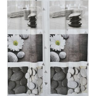 Zen Garden Printed Single Shower Curtain
