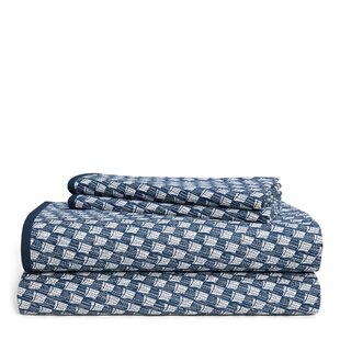 Casey Queen 230 Thread Count Geometric 100% Cotton Sheet Set
