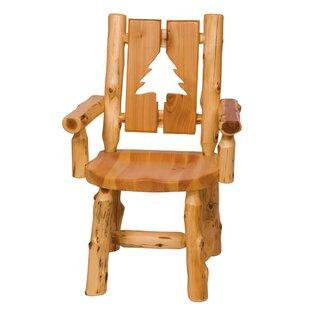 Fireside Lodge Traditional Cedar Log Cut Out Armchair