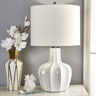 Pham Ceramic Scalloped 29 Table Lamp