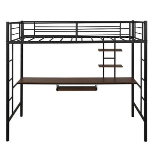 Hurston Twin Loft Bed with Desk by Harriet Bee
