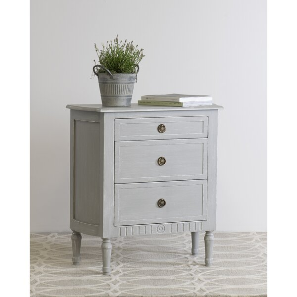 Ophelia Co Estevan 3 Drawer Nightstand Reviews Wayfair