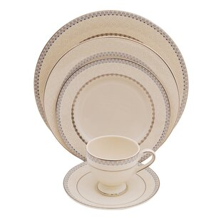 Wik 5 Piece Ivory China Place Setting, Service for 1 (Set of 4)