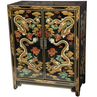 Oriental Furniture Dragons 9 Pair Shoe Storage Cabinet