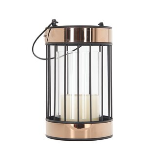 Compare prices Glass Lantern By Red Barrel Studio