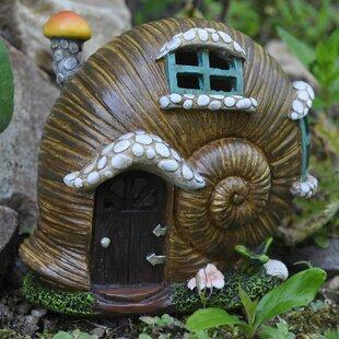 Lederman Snail Shell With Lights Fairy Garden Image