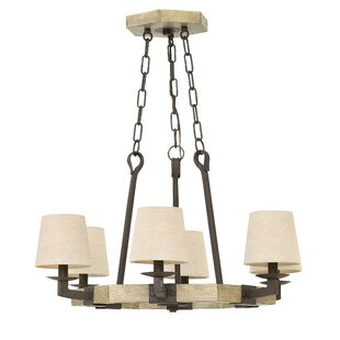 Gracie Oaks Quinnipiac 6-Light Shaded Chandelier