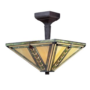 Nott 2-Light Semi Flush Mount by Loon Peak