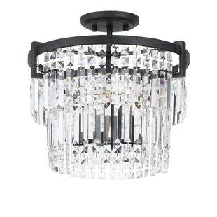 Hillcrest 3-Light Semi Flush Mount by Everly Quinn