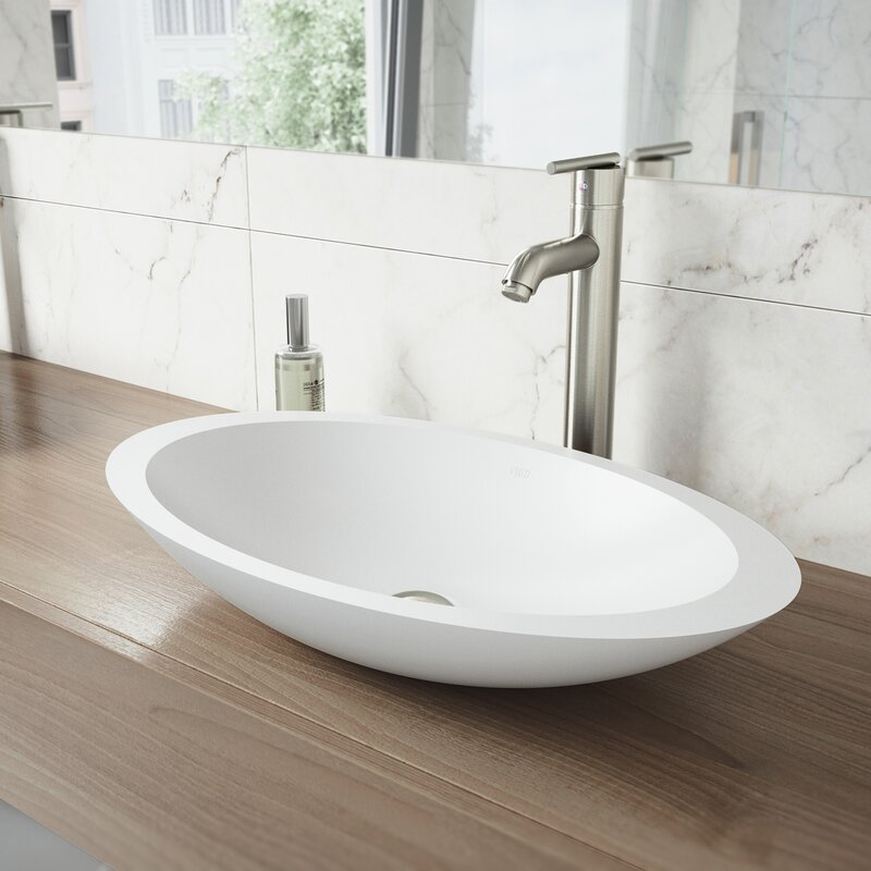 Vigo Matte Stone Oval Vessel Bathroom Sink With Faucet Reviews Wayfair