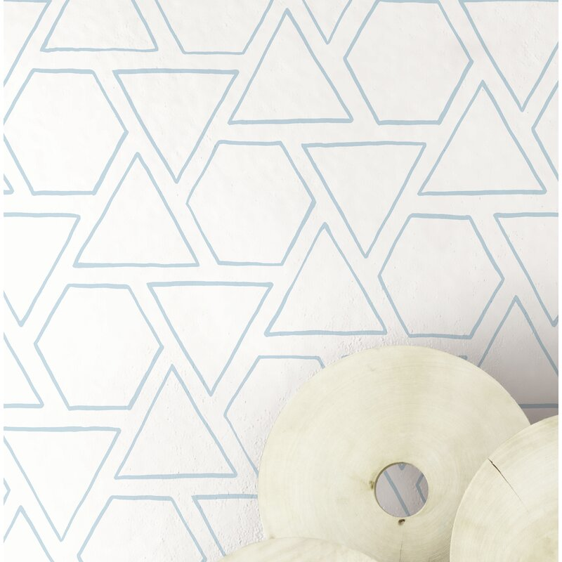"ABMC Sun Shapes and Geometric Contemporary 27' L x 27"" W Wallpaper Roll 