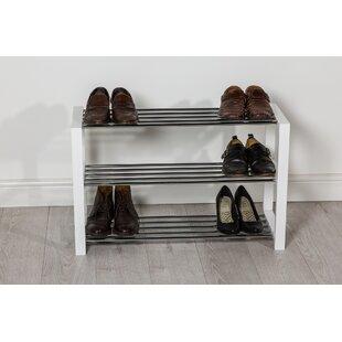 12 Pair Stackable Shoe Rack By Mercury Row