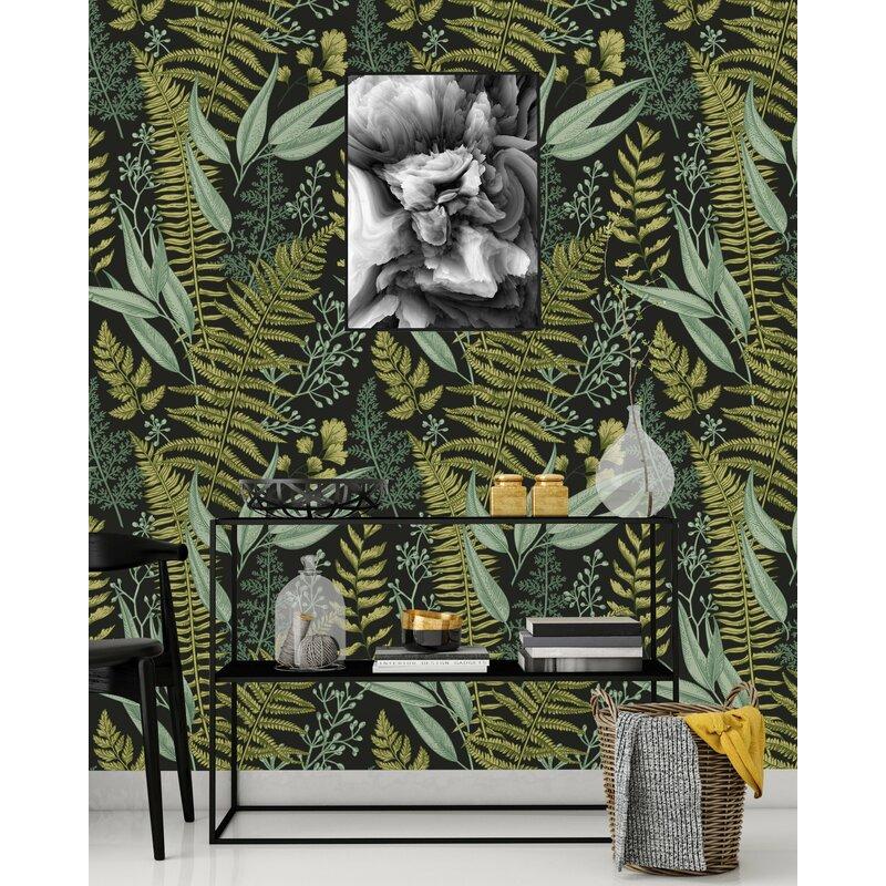 Bay Isle Home Stowmarket Botanical Ferns 120 L X 25 W Peel And Stick Wallpaper Panel Wayfair Ca