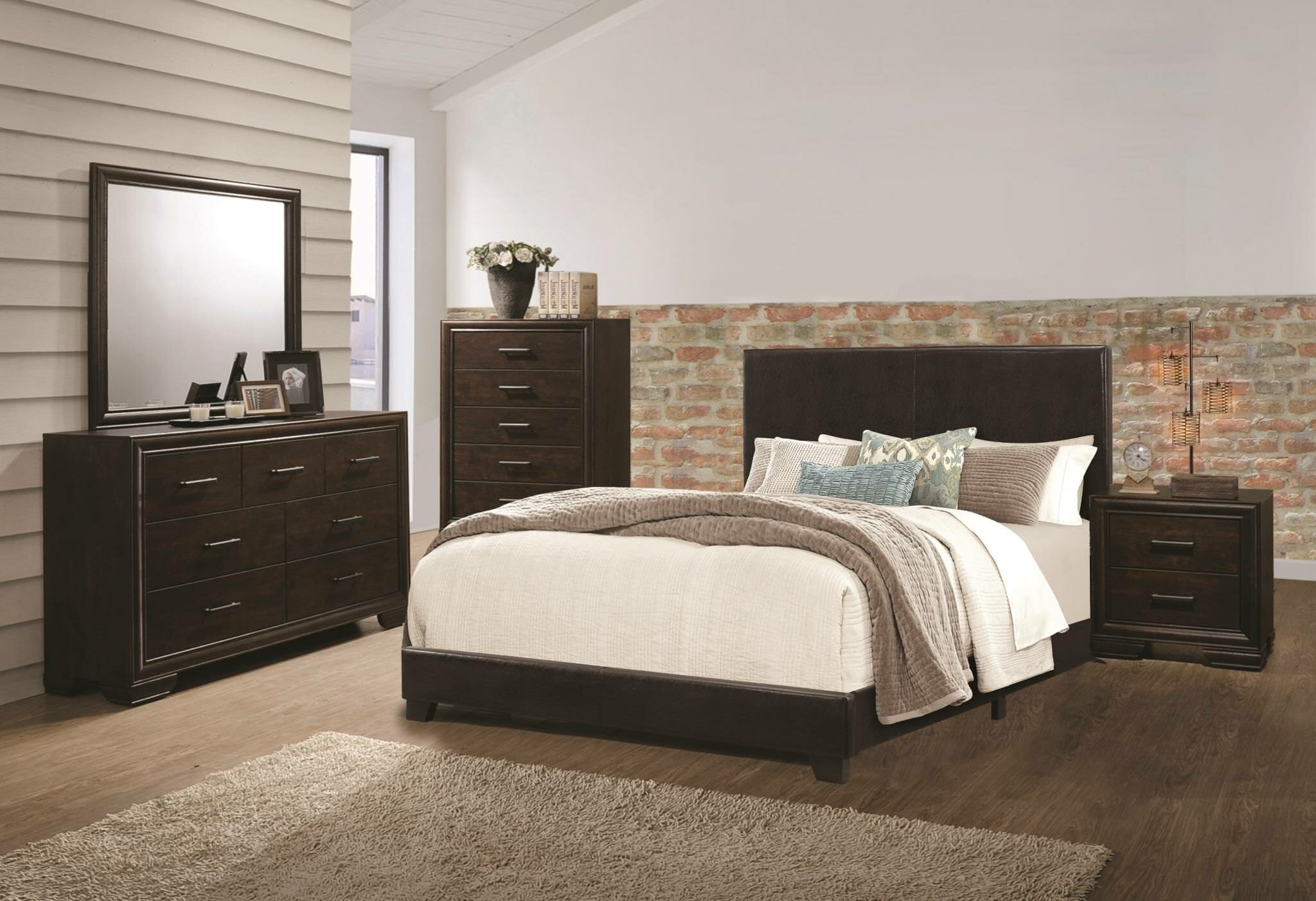 Wrought studio jackson queen panel 5 piece bedroom set wayfair