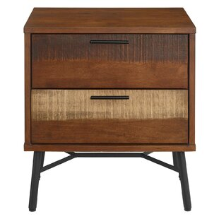 Borman Wood 2 Drawer Nightstand