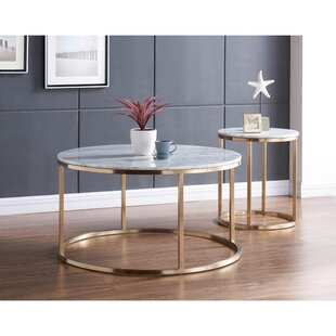 Everly Quinn Chinery 2 Piece Coffee Table Set